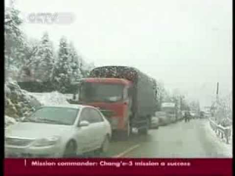 Traffic in Guizhou province affected by icy weather