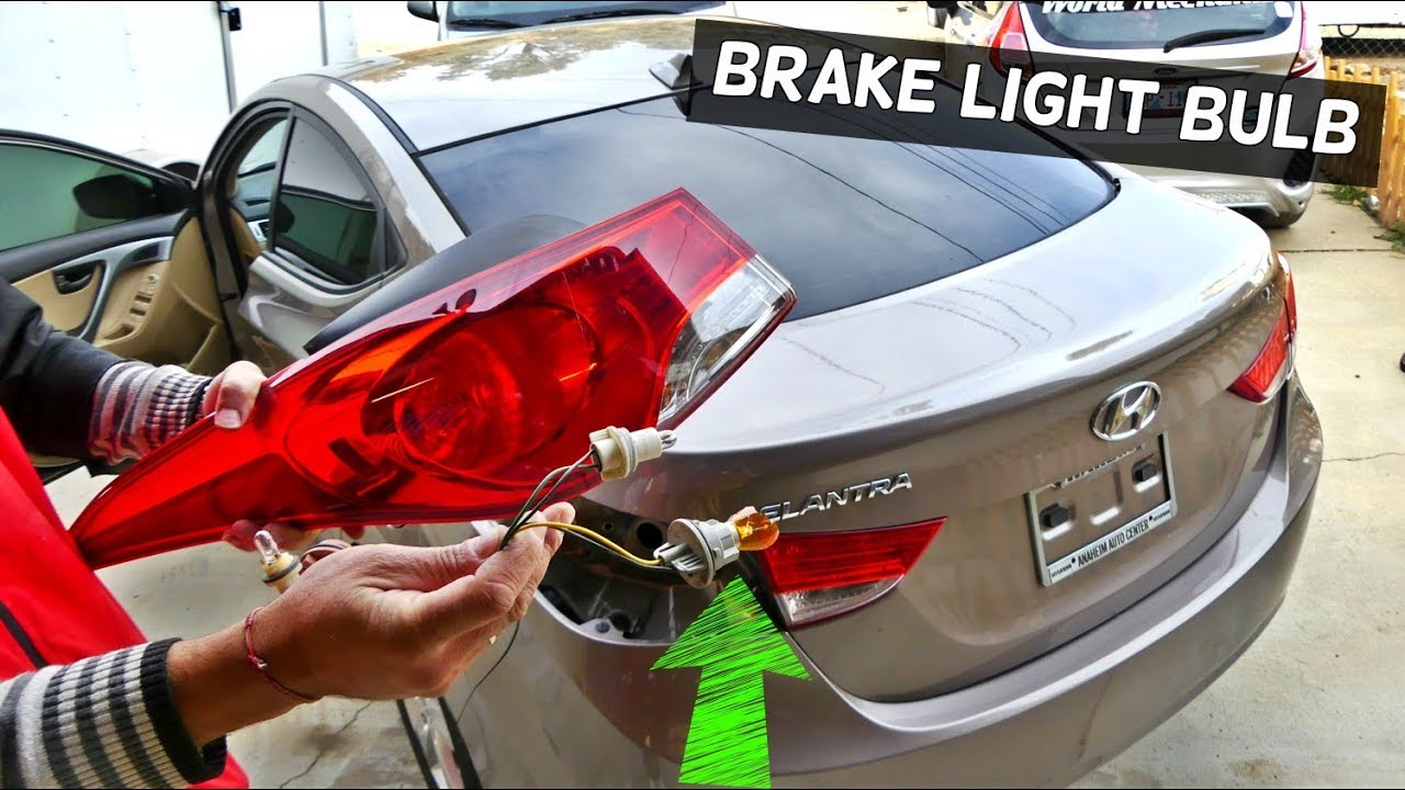 HOW TO REPLACE BRAKE LIGHT BULB ON HYUNDAI ELANTRA 2011 2012 2013 2014 2015  2016