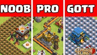 Clash of Clans ⭐️ NOOB vs PRO vs GOTT ⭐️ Mauern