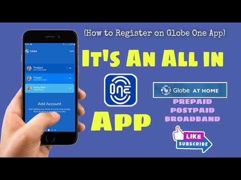 How To Register To Globe One App | Globe At Home #19 | rmj pisonet