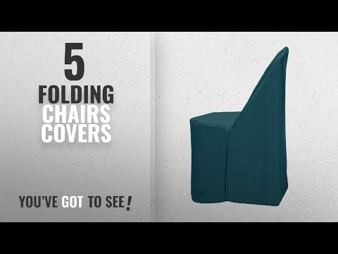 Top 10 Folding Chairs Covers [2018]: Ultimate Textile (3 Pack) Polyester Folding Chair Cover - for