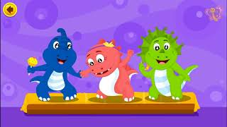 Five Baby Dino Jumping on the Bed |The Dinosaurs Song | Popular Nursery Rhymes for Kids by BooBoo