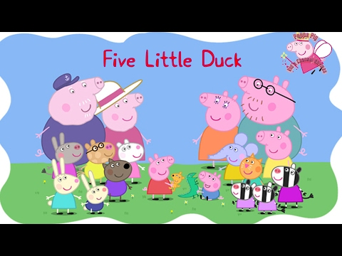 Peppa Pig English Episodes Rhyme Five Little Duck