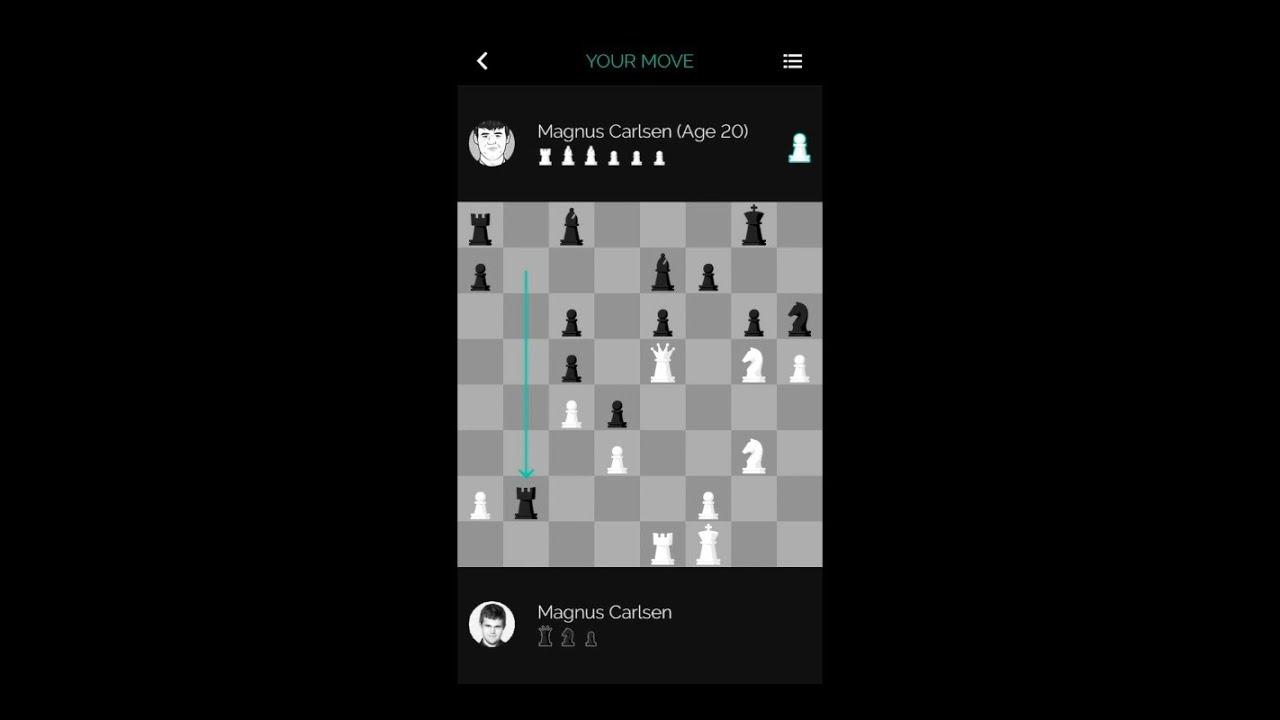 Magnus Carlsen vs  Himself at 20 on the Play Magnus Chess App