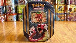 Pokemon Shiny Gyarados EX Tin Opening