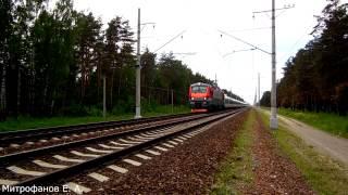 Электровоз ЭП20-016 (ТЧЭ-6) с поездом №708Н