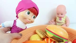 Masha Oyuncak Bebeğine Yemek Hazırladı Eğitici Videolar