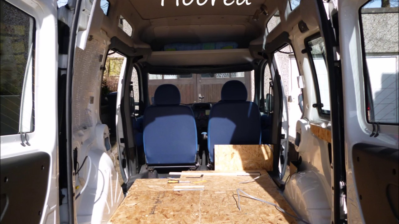 how to convert a fiat doblo car into a campervan youtube. Black Bedroom Furniture Sets. Home Design Ideas