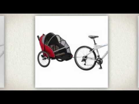 Schwinn Joyrider Bicycle Trailer Stroller Combo - YouTube