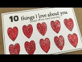 diy Scratch Off Love Note Card - TEN Things I Love About You