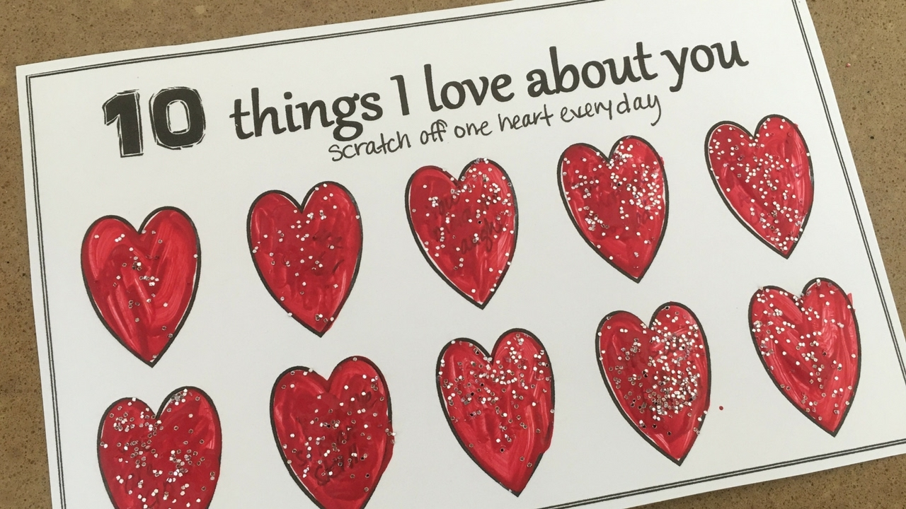 10 Things I Love About You: Diy Scratch Off Love Note Card