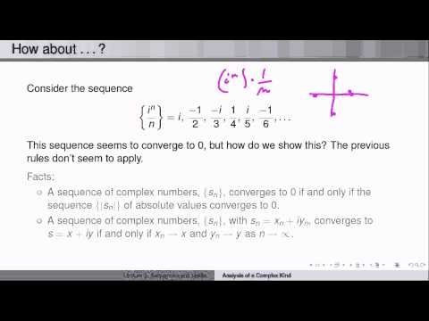Week2Lecture2: Sequences and limits of complex numbers
