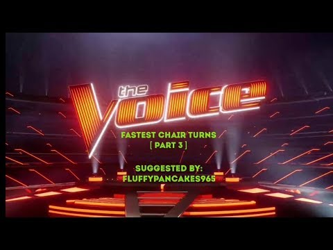 FASTEST CHAIR TURN AUDITIONS IN THE VOICE  PART 3   THE VOICE MASTERPIECE