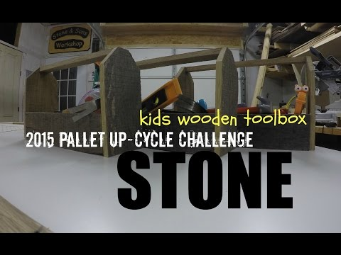 Kids Wooden Toolbox - Pallet Wood