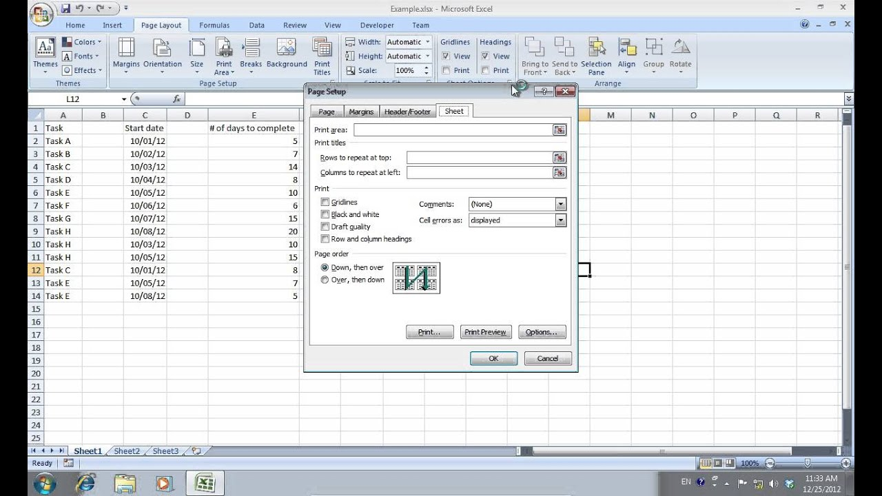 How To Print Excel Notes Cell