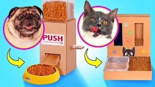 MAKE YOUR PET HAPPY || DIY Food Dispensers For Pets