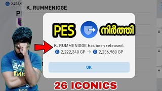Releasing 26 Iconics and Good Bye PES🥺|Malayalam|DG