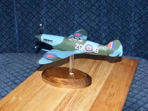 Papercraft How to make a cool -   SUPER MARINE SPITFIRE   Paper  Airplane Model