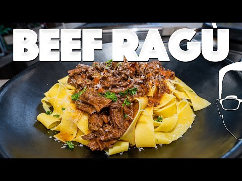BEEF RAGU PASTA RECIPE (BETTER THAN BOLOGNESE?) | SAM THE COOKING GUY