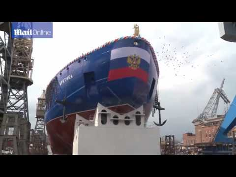 Russia launches its enormous nuclear powered icebreaker