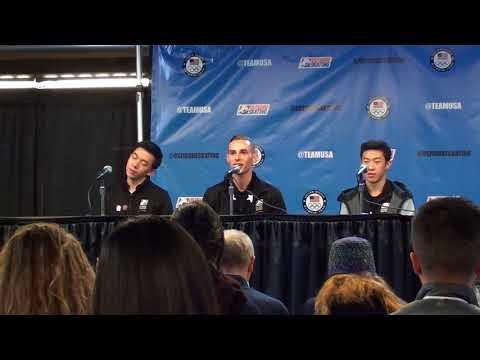 8Asians: U.S. Figure Skating Press Conf.: 2018 U.S. Olympic Figure Skating Men's Team - 2/2