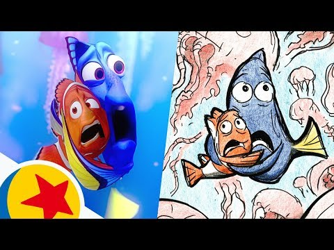 marlin-and-dory-in-the-jellyfish-forest-from-finding-nemo-|-pixar-side-by-side