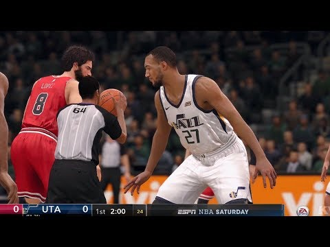 NBA Live 18 - Utah Jazz vs Chicago Bulls - Gameplay (HD) [1080p60FPS]