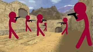 Flash Animation - Counter-Strike 1.6 - de_dust2 (Zombie Server) - 1080p