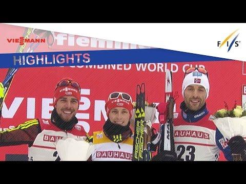 Highlights   Frenzel extends German winning streak in Val di Fiemme GU #1   FIS Nordic Combined