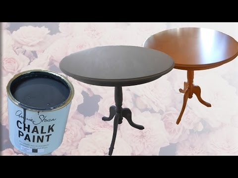 Transforming my coffee table w/ Annie Sloan Chalk Paint (Graphite & Dark wax)