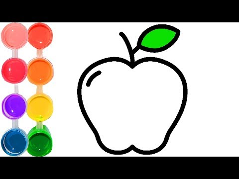how-to-draw-&-color-an-apple-fruit-|-easy-&-cute-drawings-for-kids-|-learn-maca-fun-colors-(manzana)