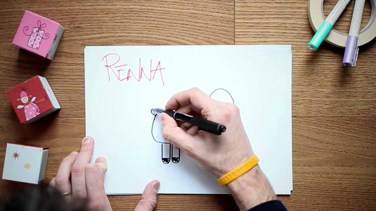Disegni di natale per bambini la renna youtube for Disegni facili di natale