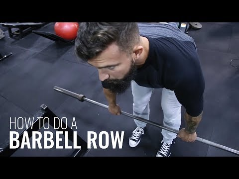 How to do a Barbell Row