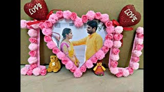 DIY How to do I love u Photo frame for your beloved one.