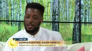Adam Tensta lämnar Nyhetsmorgons studio - Nyhetsmorgon (TV4)