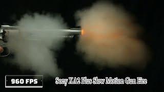 Sony Xperia XA2 Plus Slow Motion Pistol Firing | Slow Mo Guys TV