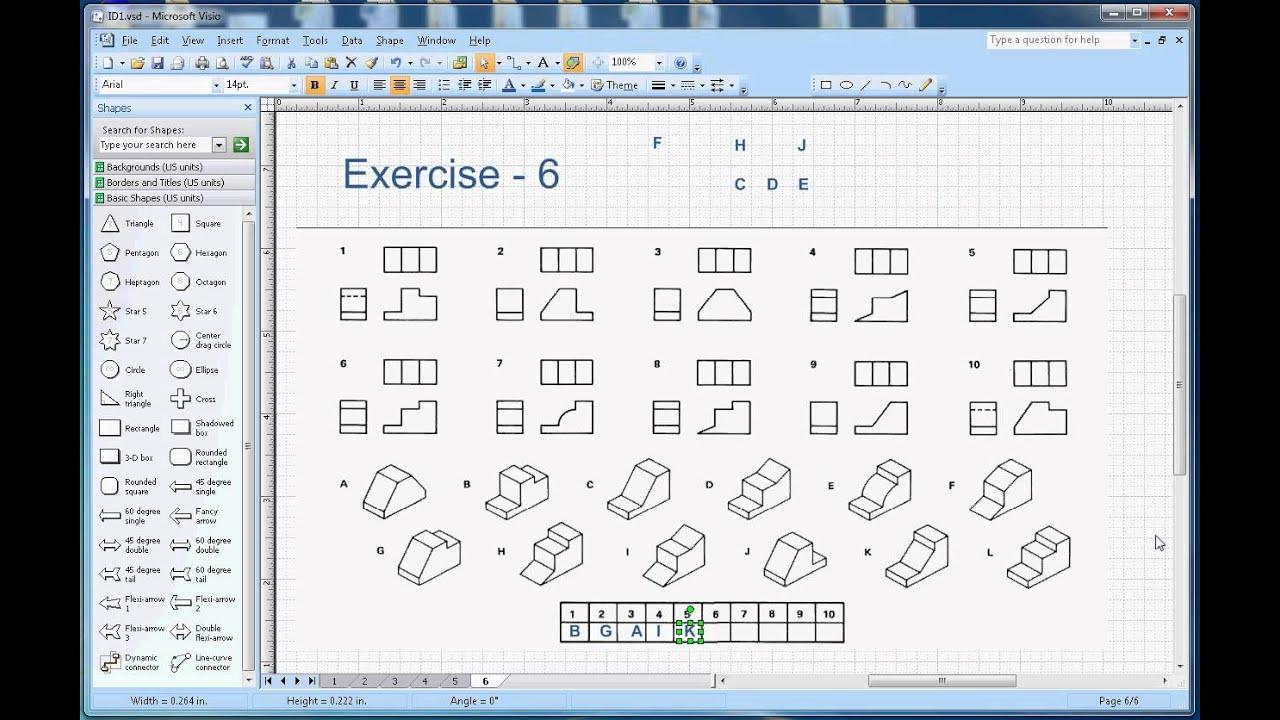 Isometric Drawing - Exercise 6 - YouTube