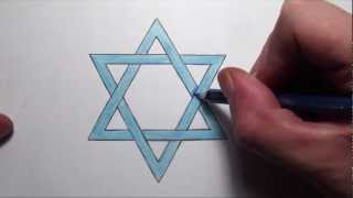 How To Draw The Star of David - Step by Step