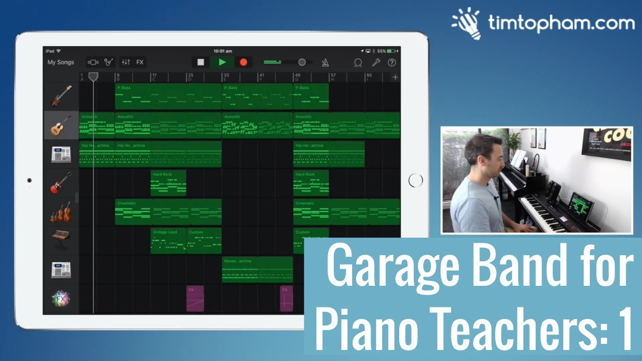 How to Record Live Piano on GarageBand for the iPad - Creative Music