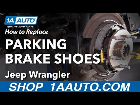 How to Replace Parking Brake Shoes 06-18 Jeep Wrangler