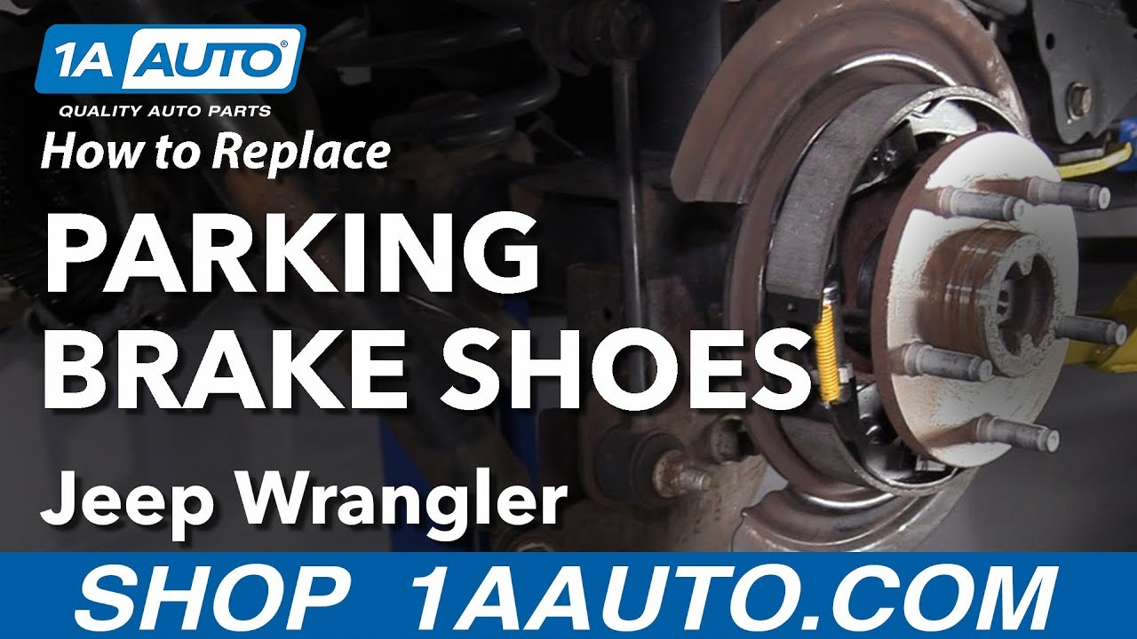 hight resolution of how to replace parking brake shoes 06 18 jeep wrangler
