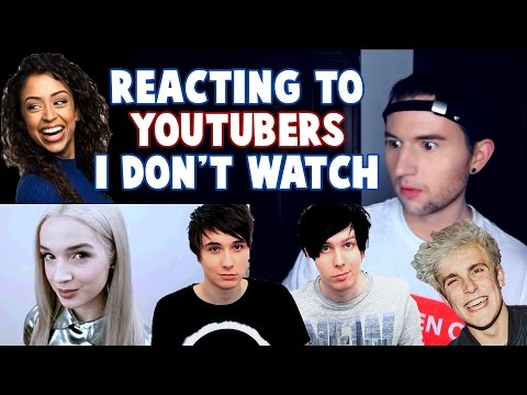 REACTING TO YOUTUBERS I DON'T WATCH