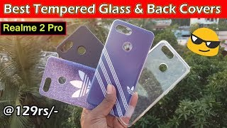 Realme 2 pro  Best Tempered Glass & Back Covers || in telugu