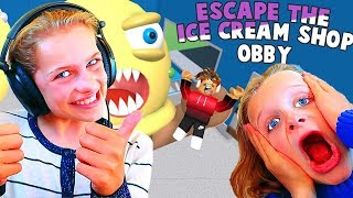 PLAYING ROBLOX WITH OUR SUBSCRIBERS | Escape the Ice Cream Obby