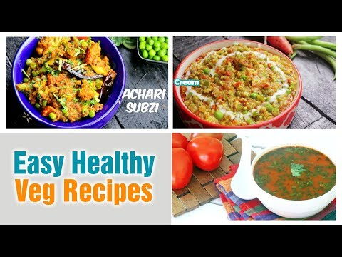 Easy Healthy Veg Recipes | Quick and Healthy Dinner Ideas | Village Travel Food