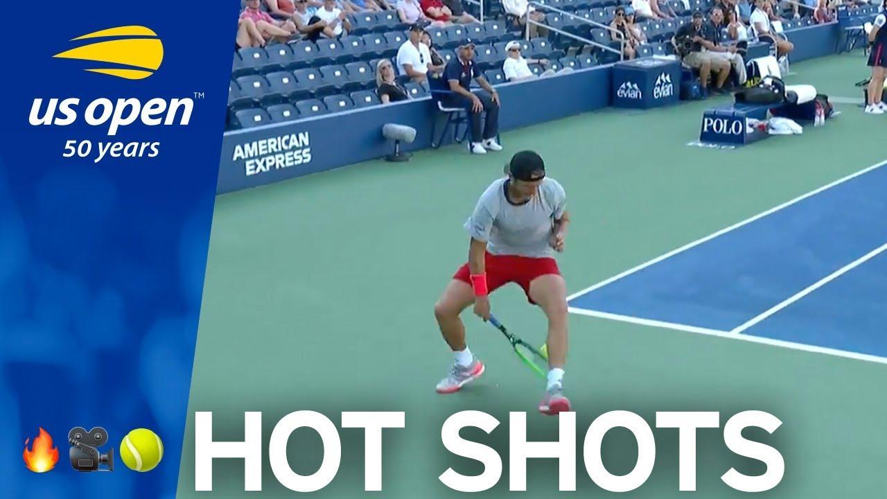 US Open Hot Shot: Lucas Pouille Lobs a Tweener Over Baghdatis