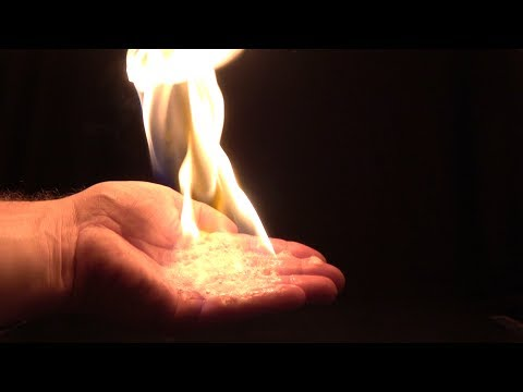 Burning Hand Fire experiments / Liquid dish soap / Butangas / Water / Kitchen lighter