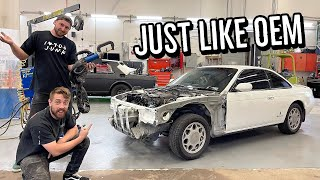 Attaching the new radiator support to my Silvia! (Results shock me!)