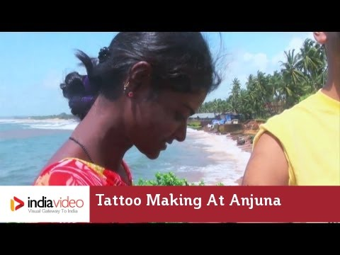 Tattoo Making at Anjuna beach, Goa