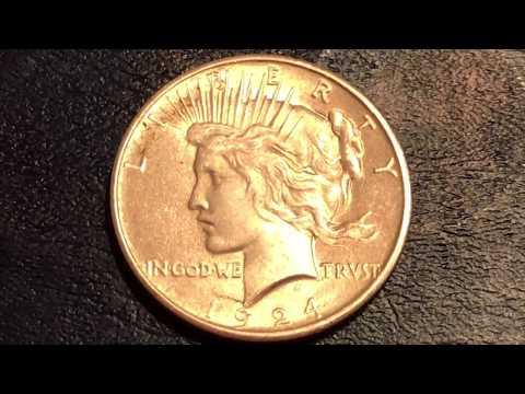 1924 Peace Dollar Coin - Silver Content